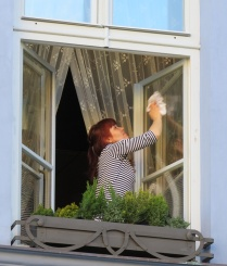 when I'm cleaning windows