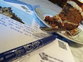 cake and postcards