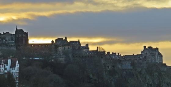 castle in the dusk