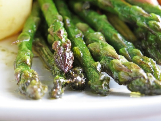 pan fried aspargus