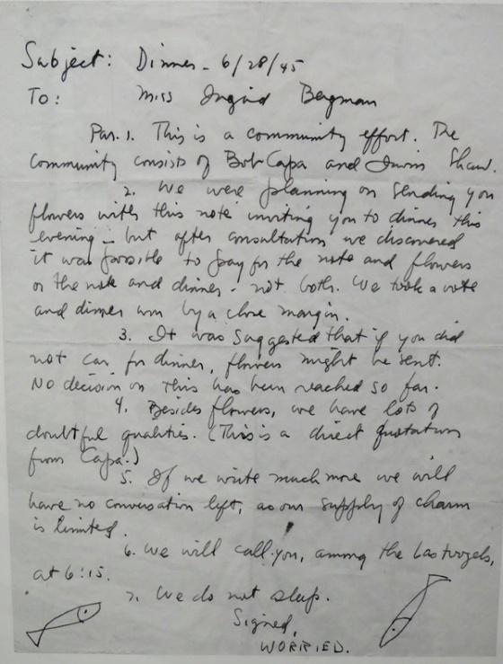 Robert Capa letter