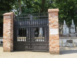 the old cemetery gate