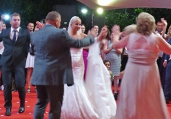 dancing with her new family