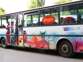 fruity bus - vykort
