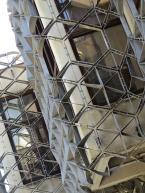 Library. metal frame