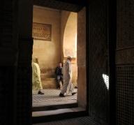 throug-open-door