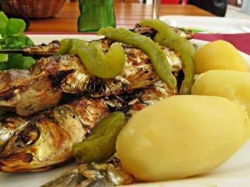 grilled sardins