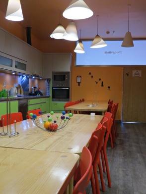 hostel self catering kitchen