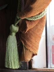 burlap and silk