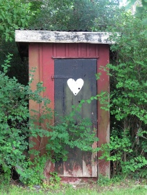 old fashion outhouse