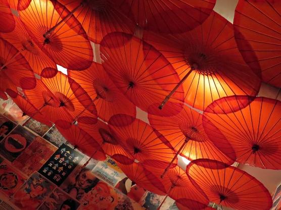 red umbrellas - gurushot