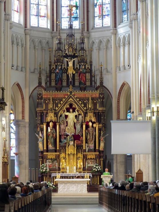 under mass