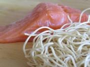 salmon & noddles
