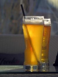 beer in the golden hour
