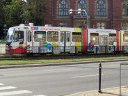 colorful tram