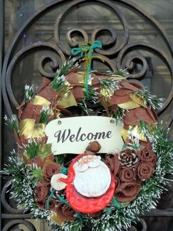 welcoming santa