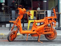 orange moped