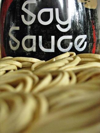 noodles & soy sauce